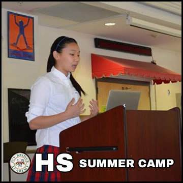 IBA Debate Camp HS Summer Sat