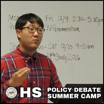 Policy Debate Summer Camp HS