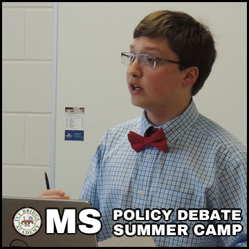 Policy Debate Summer Camp MS